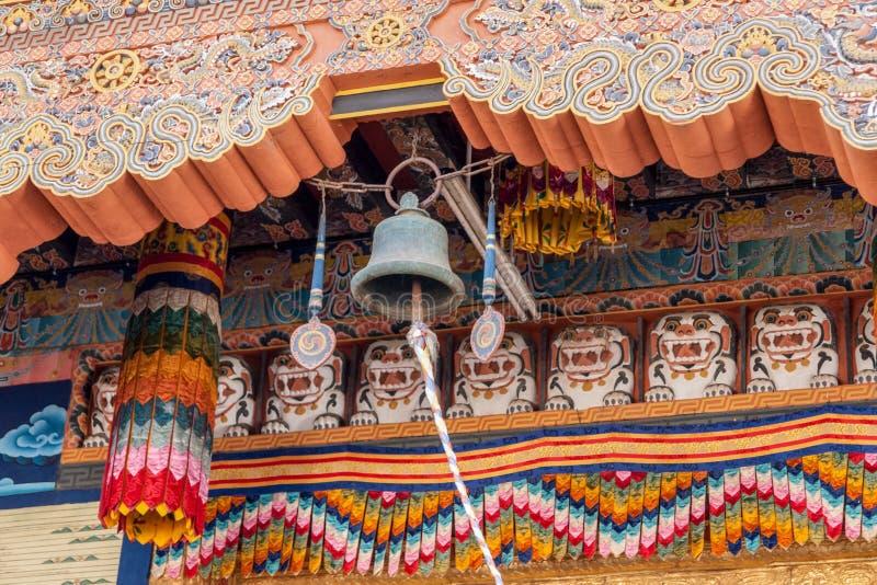 Bell en Punakha Dzong - Bhután imagenes de archivo