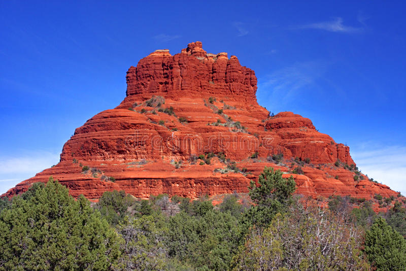 Bell-Felsen in Sedona Arizona stockbilder