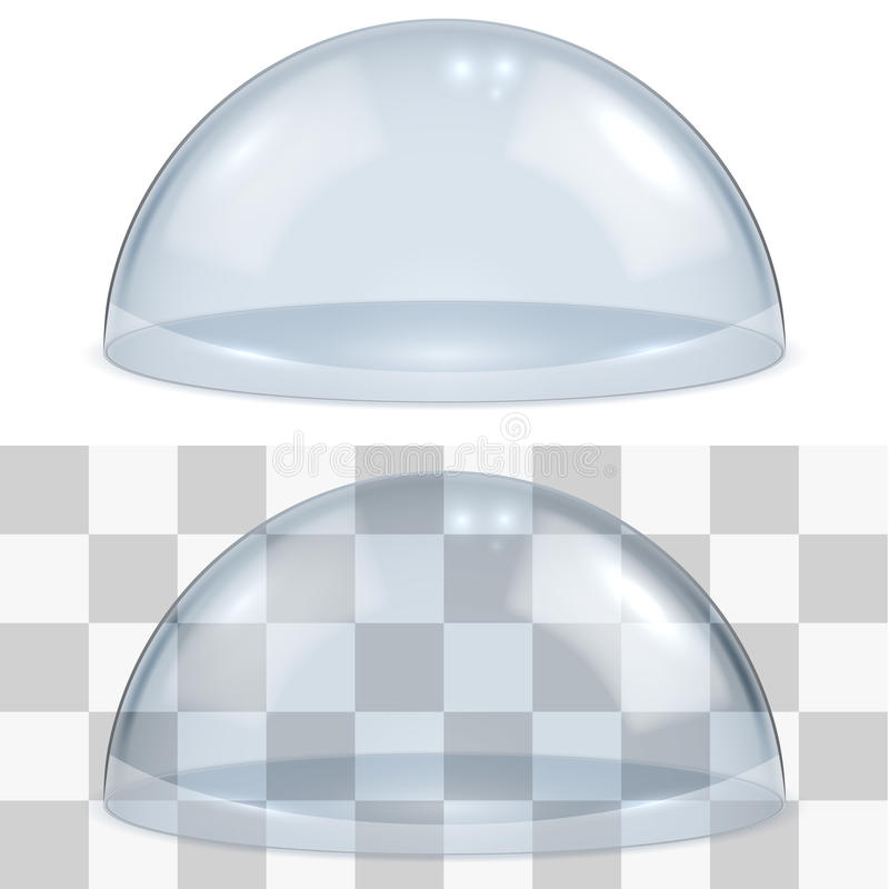 Bell glass. Isolated on white background vector template. EPS10 file with transparency can be laid over any bright background stock illustration