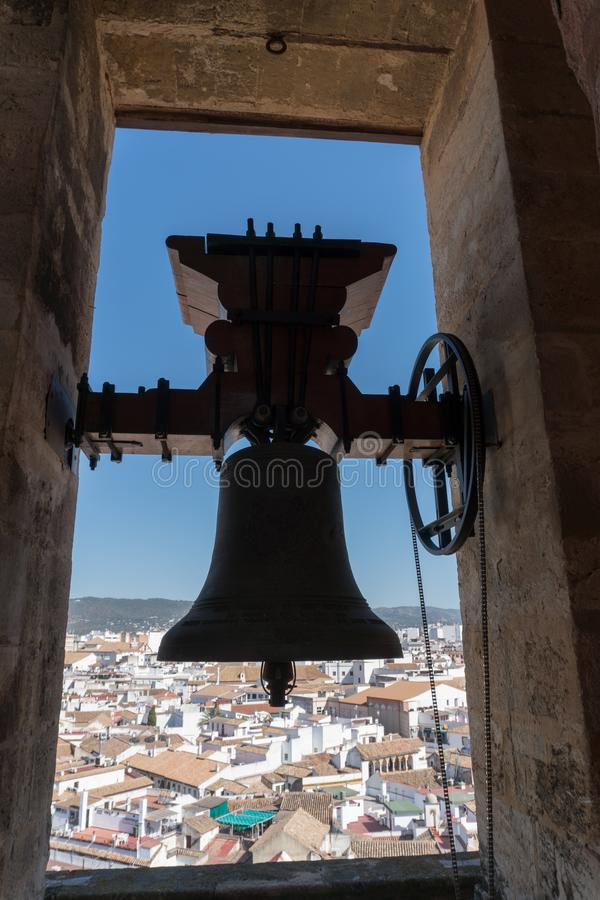 Bell Of The Great Mezquita Cathedral Of Cordova. Towerr Bell Of The Great Mezquita Cathedral Of Cordova royalty free stock images