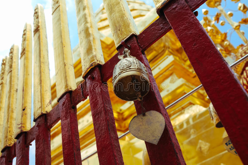 Bell hang from Wat Phra That doi suthep. Buddhist temple Bell hang from Wat Phra That doi suthep in Chiangmai Thailand stock photos