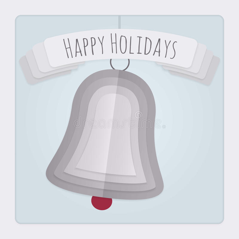 Bell Holidays Card royalty free illustration
