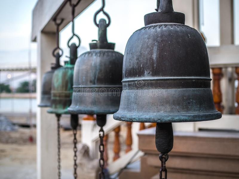 The bell hung. In Thailand Temple royalty free stock photography