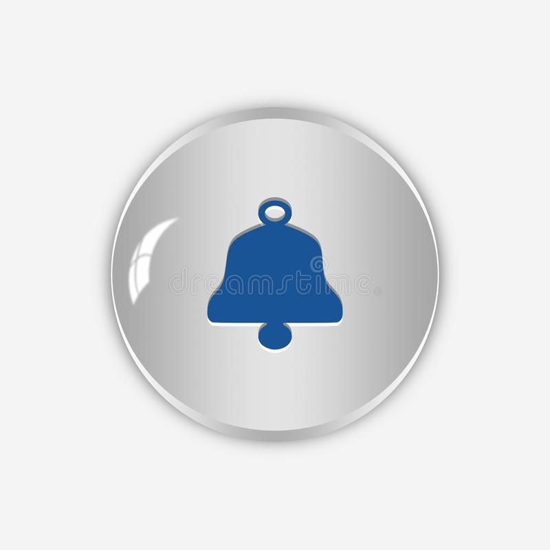 Bell Icon,button,3D Illustration Stock Illustration
