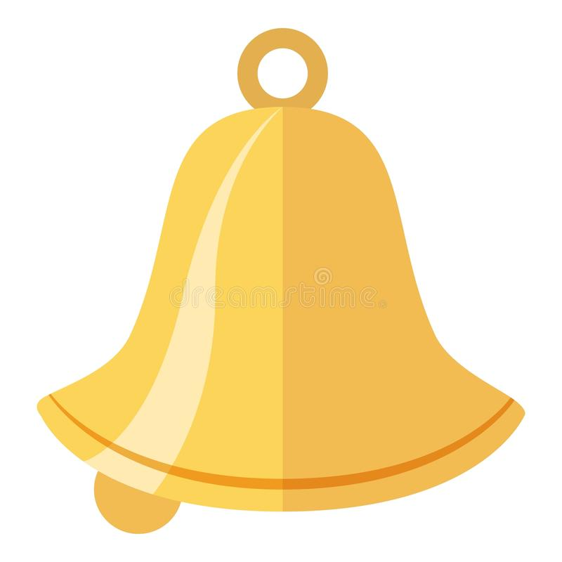 Bell icon, flat style. Bell icon. Flat illustration of bell vector icon for web royalty free illustration