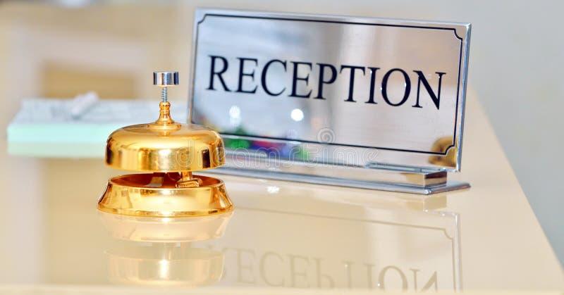 Bell im Hotel stockfoto