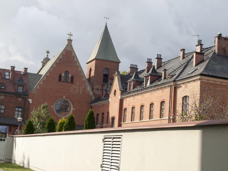Bell im Schongebiet der Gnade in Krakau in Polen Lagiewniki lizenzfreie stockfotografie