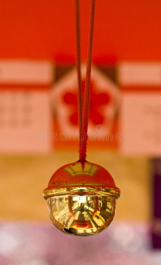 Download Bell in Japanese shrine stock image. Image of close, japanese - 18187215