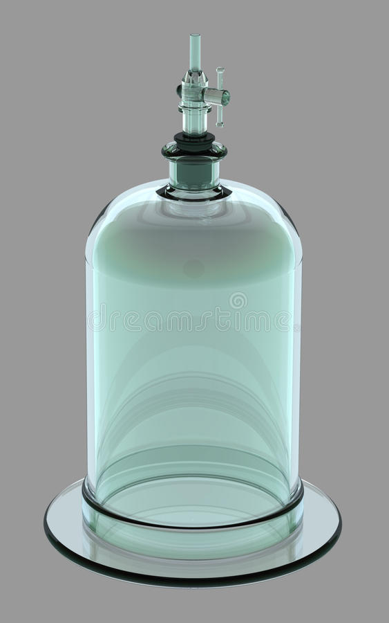Bell Jar With Valve Stock Photo