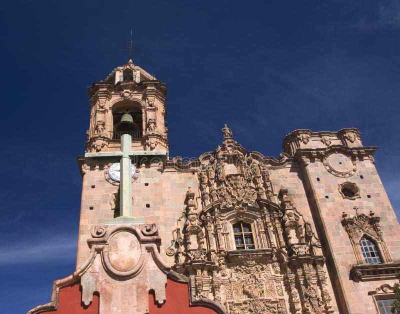 bell krzyża Meksyku wieży kościoła obrazy stock