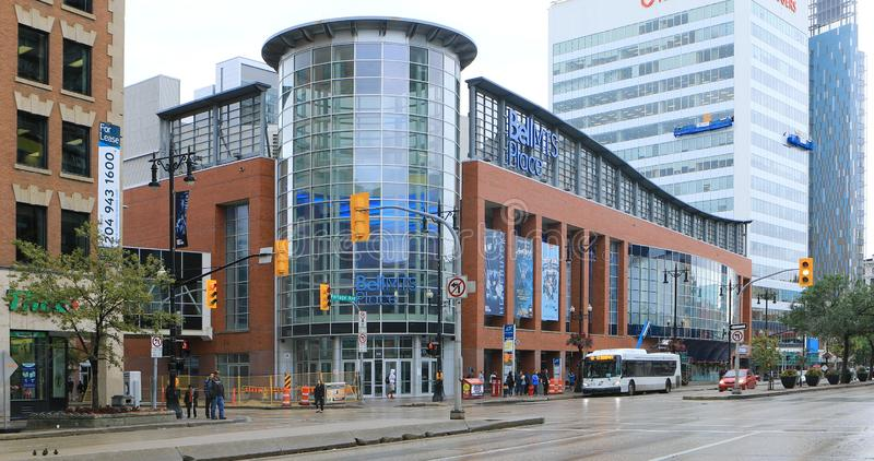 Bell MTS Place a Winnipeg, Canada fotografia stock libera da diritti