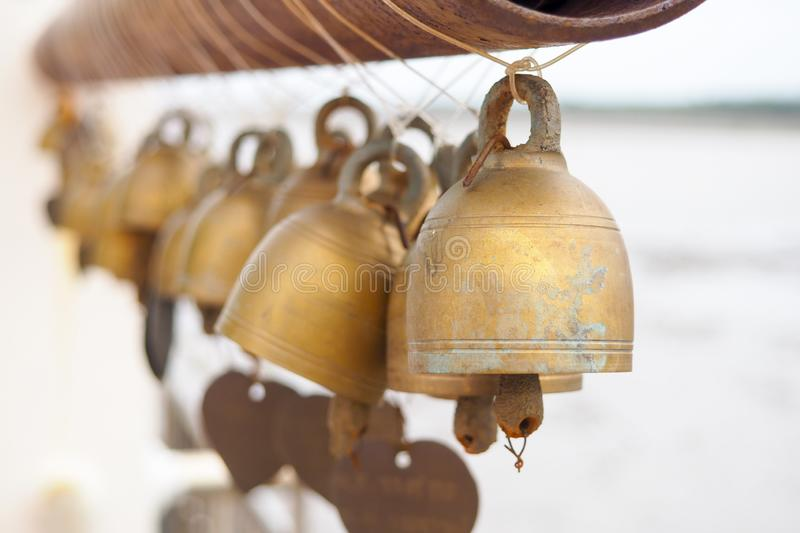 The bell is the symbol of the temple in Thailand. royalty free stock photography