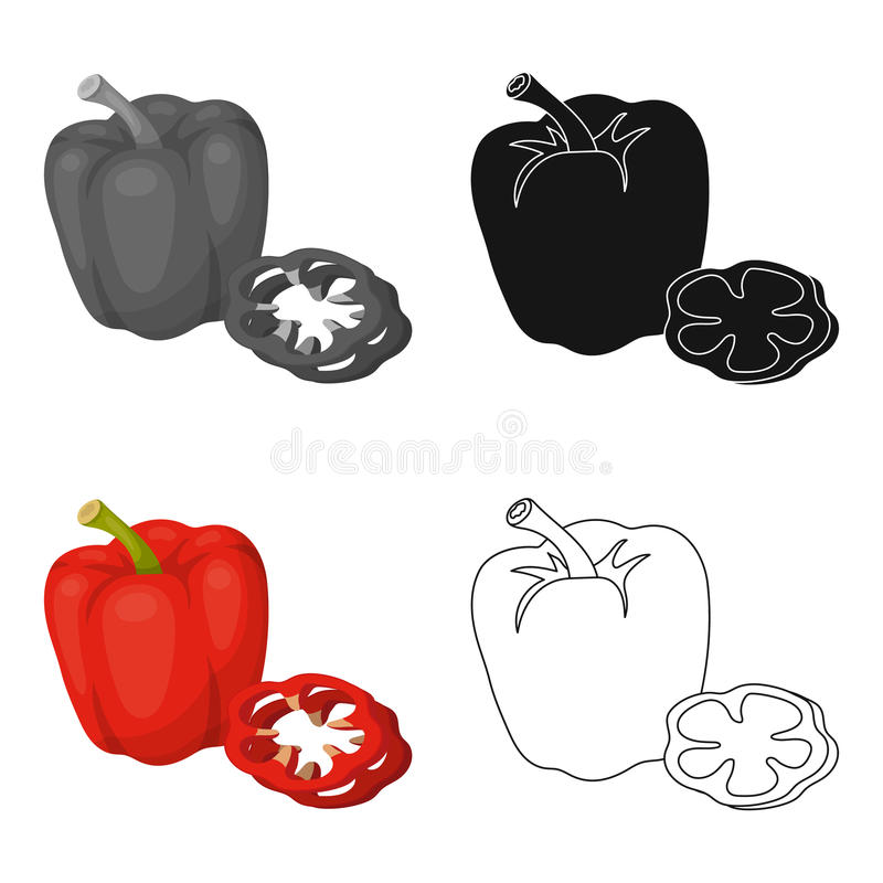 Bell pepper.BBQ single icon in cartoon style vector symbol stock illustration web. Bell pepper.BBQ single icon in cartoon style vector symbol stock illustration stock illustration