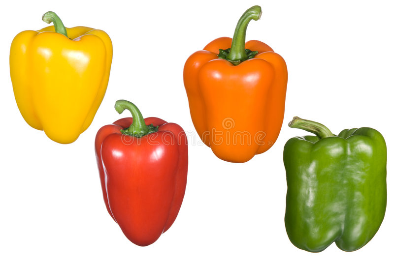 Bell pepper montage royalty free stock photos