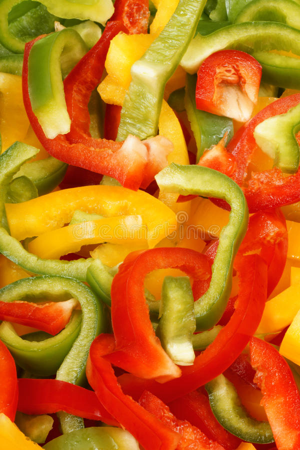 Bell pepper slices background royalty free stock photos