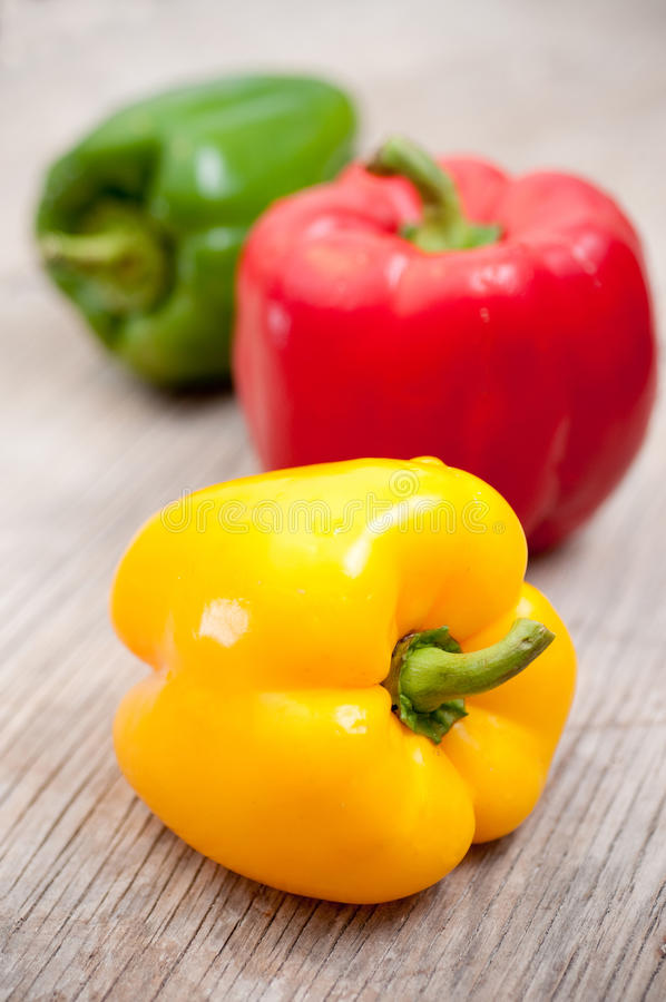 Download Bell peppers stock image. Image of paprika, vivid, wooden - 16724531