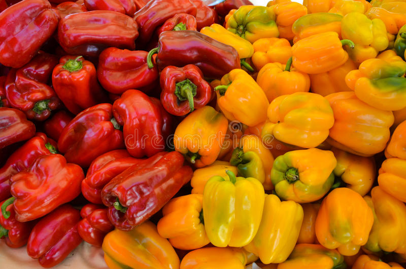 Bell Peppers Closeup royalty free stock photo