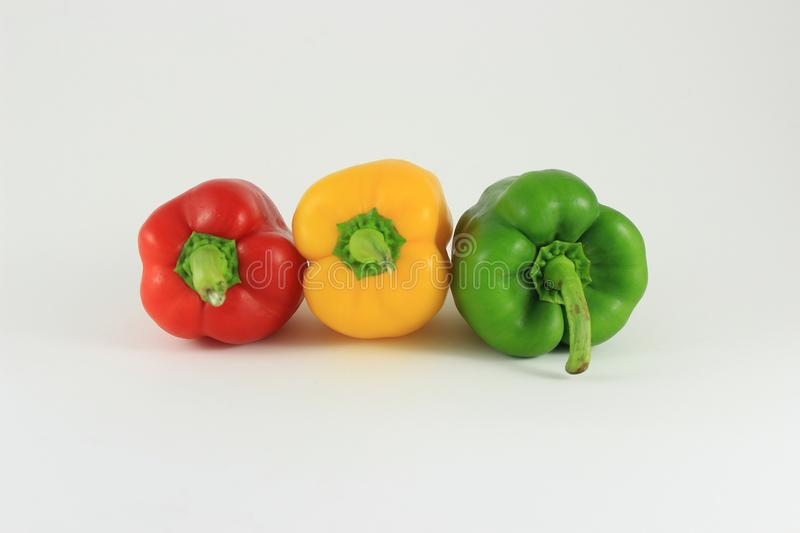 Bell Peppers of Colour. A colour image of natures colourful array of bell peppers royalty free stock photography