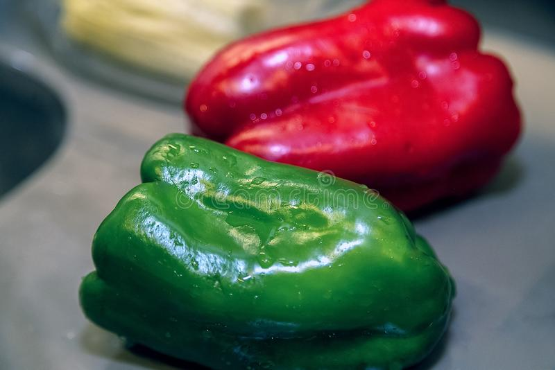 Bell peppers for dinner royalty free stock photography