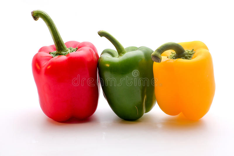 Download Three peppers stock photo. Image of three, colors, white - 48865170