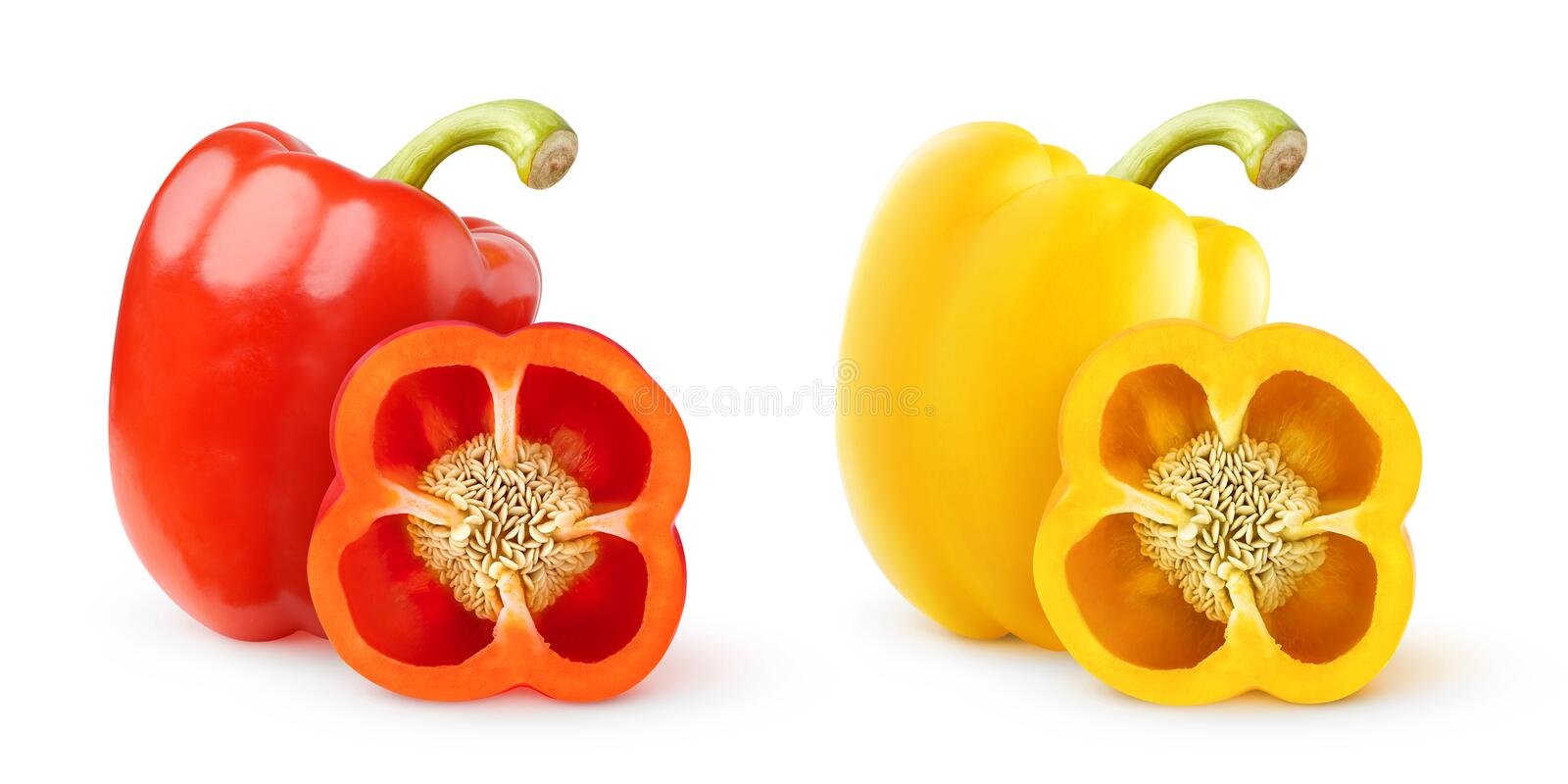 Download Bell peppers stock image. Image of isolated, capsicum - 33279445