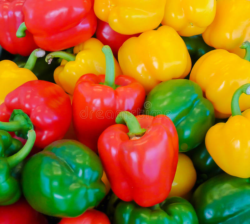 Bell Peppers for sale royalty free stock images