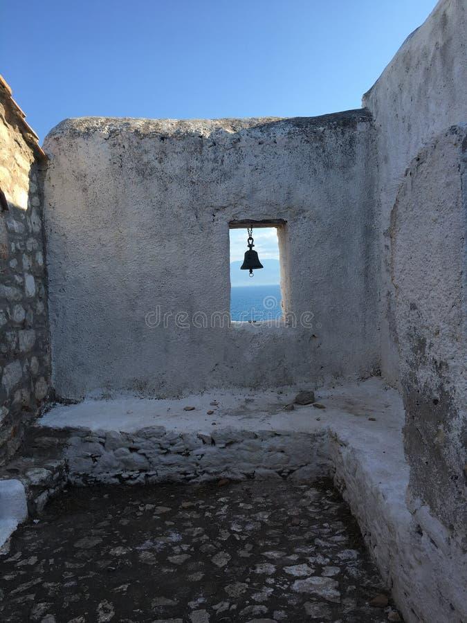 Bell przy morzem fotografia royalty free