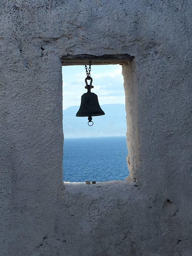 Bell przy morzem obraz stock