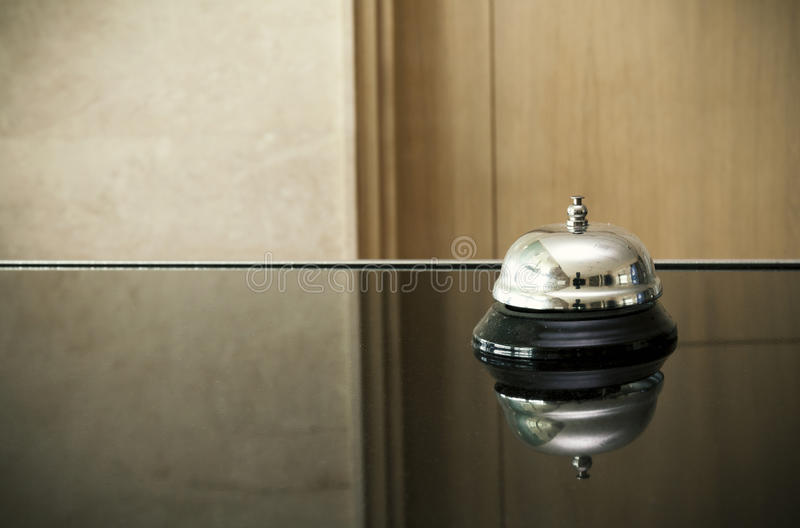 Bell at reception royalty free stock image