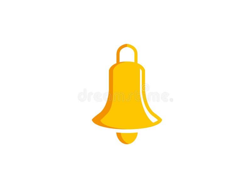 Bell-Ring golden für Logoentwurf stock abbildung
