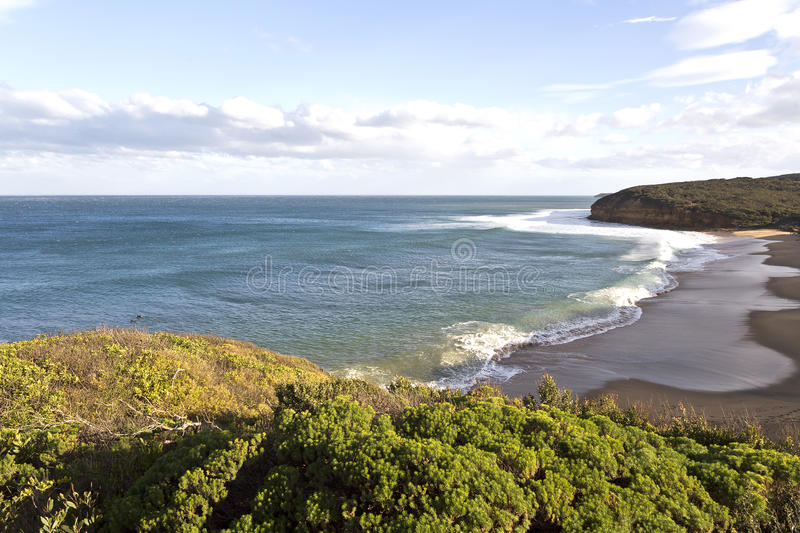 Bell-Strand, große Ozean-Straße, Australien lizenzfreie stockfotografie