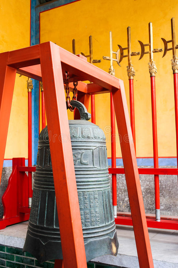 Bell in the temple of Confucius royalty free stock images