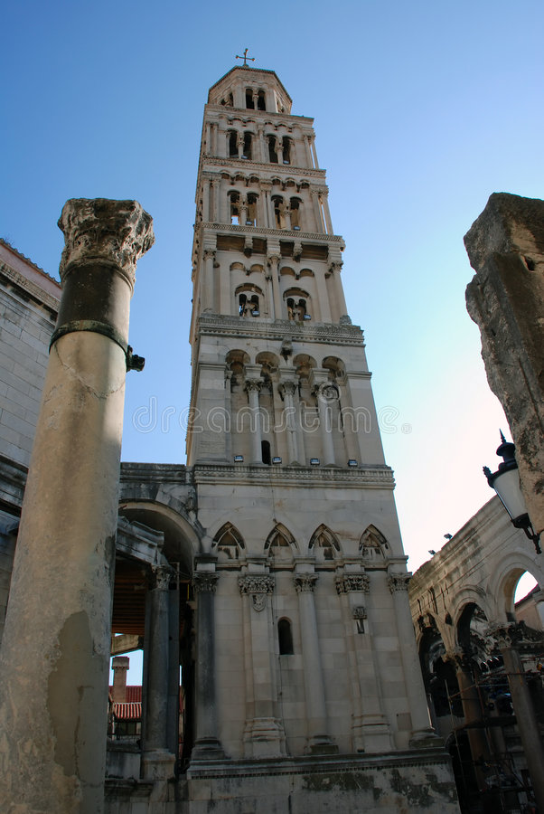Bell tower. St. Domnius' bell tower in Split - Croatia royalty free stock photography