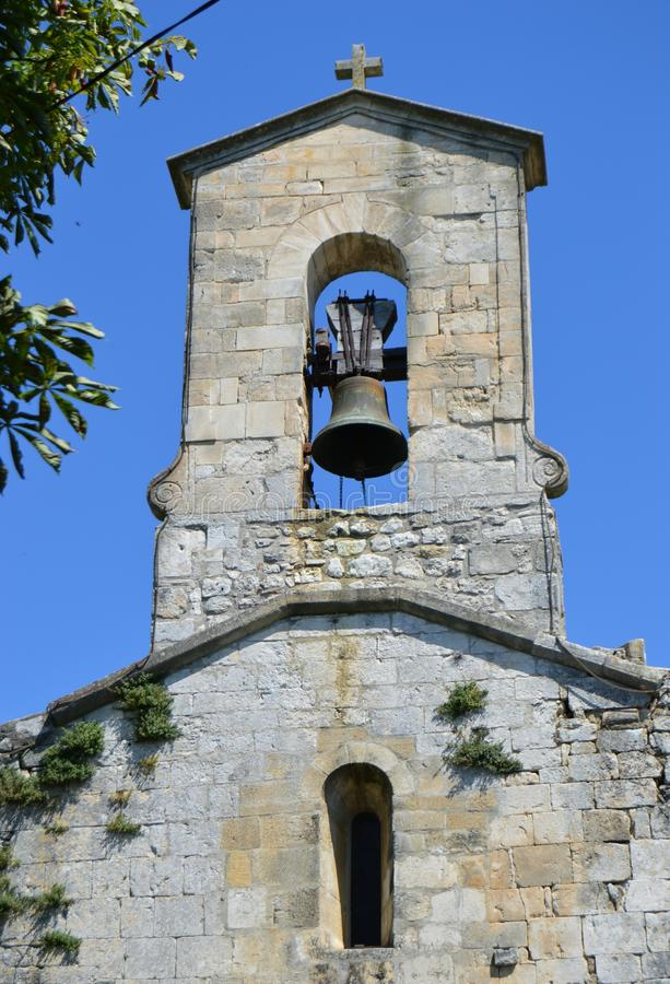 Bell-Tower. Of ancient church in Southern France royalty free stock photography