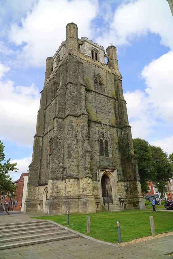 Free Bell Tower At English Cathedral Stock Images - 158079354