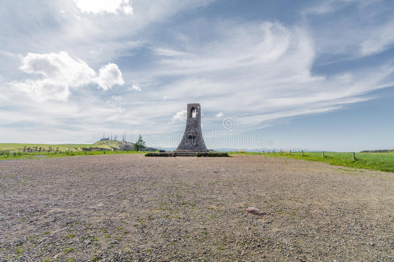 Bell tower and beautiful landscape view royalty free stock photography