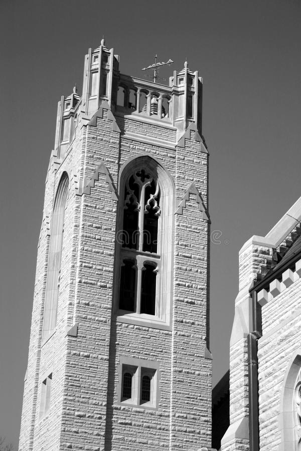 Bell Tower In Black & White Free Stock Image