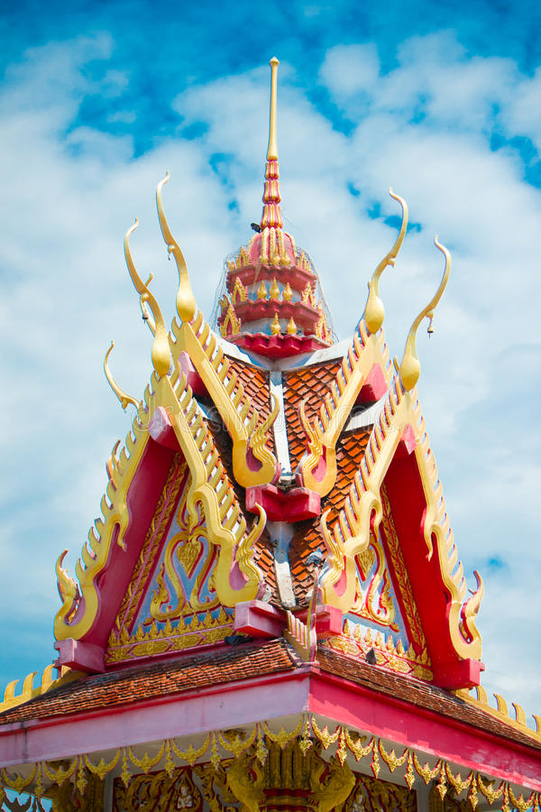 Bell tower Buddhism stock image