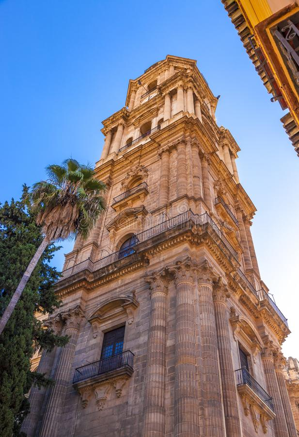 Cathedral of the Incarnation in Malaga, Spain stock photo