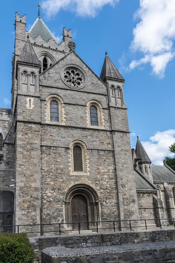 Bell tower of Christ Church Cathedral, Dublin Ireland. stock images