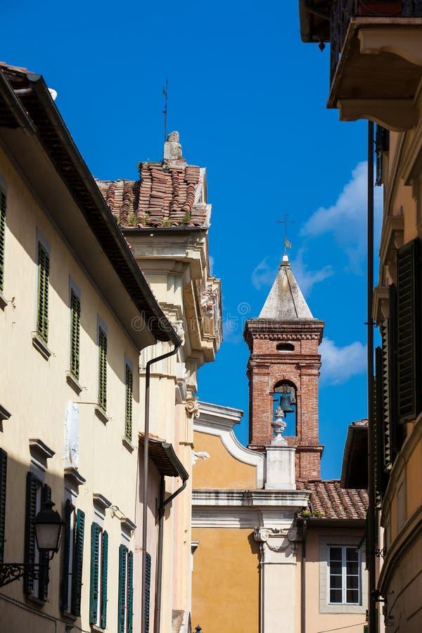Bell tower of the Church of San Giuseppe built on 1710 in Pisa. The Bell tower of the Church of San Giuseppe built on 1710 in Pisa stock photography