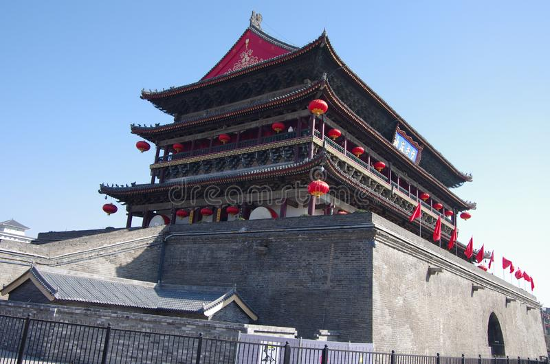 Xi `an bell tower and drum tower: a wonderful work of ancient architecture royalty free stock photos