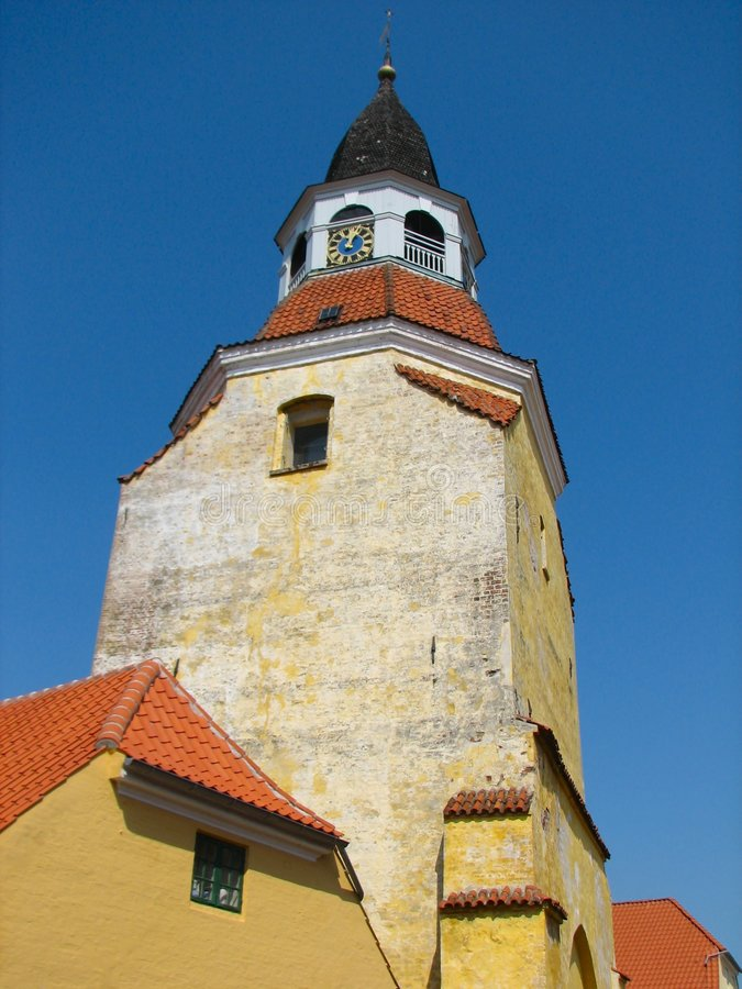 The Bell Tower of Faaborg royalty free stock image