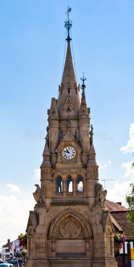Bell tower in Hometown of Shakespeare in British royalty free stock image