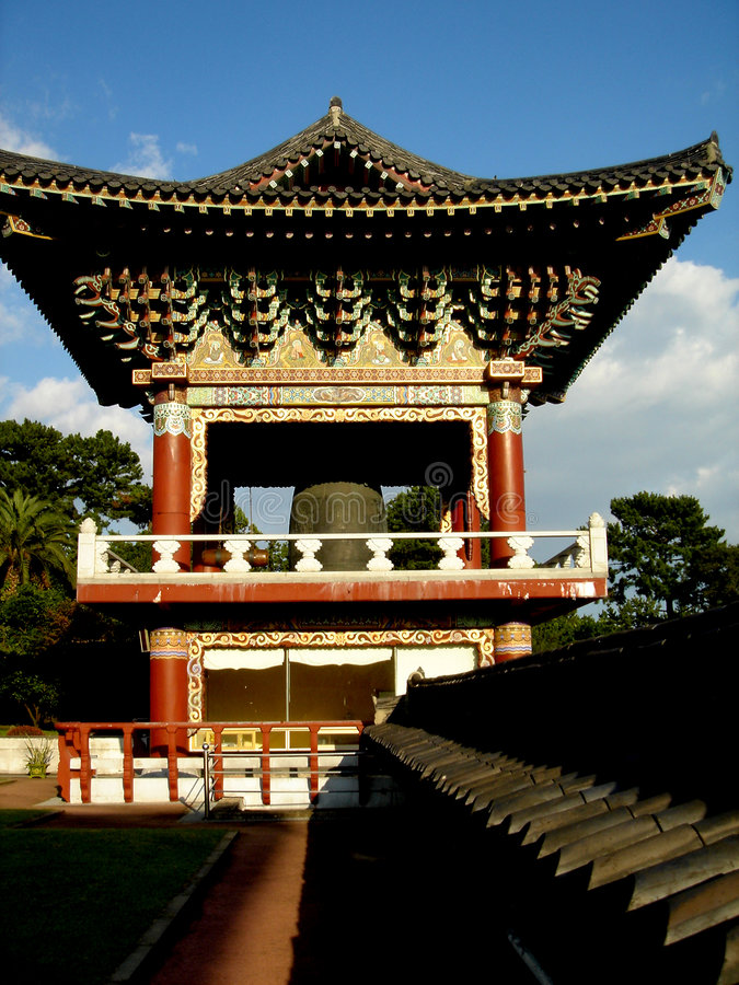 Free Bell Tower Jeju Island Temple Stock Photography - 1656102