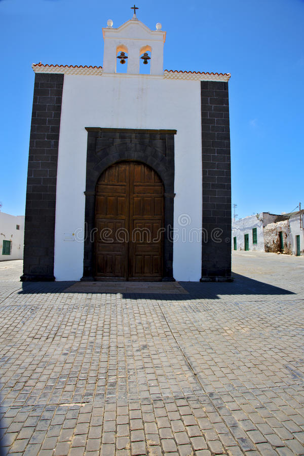 Free Bell Tower Lanzarote Spain The Old Wall Terrace Church Arre Stock Photos - 40395303