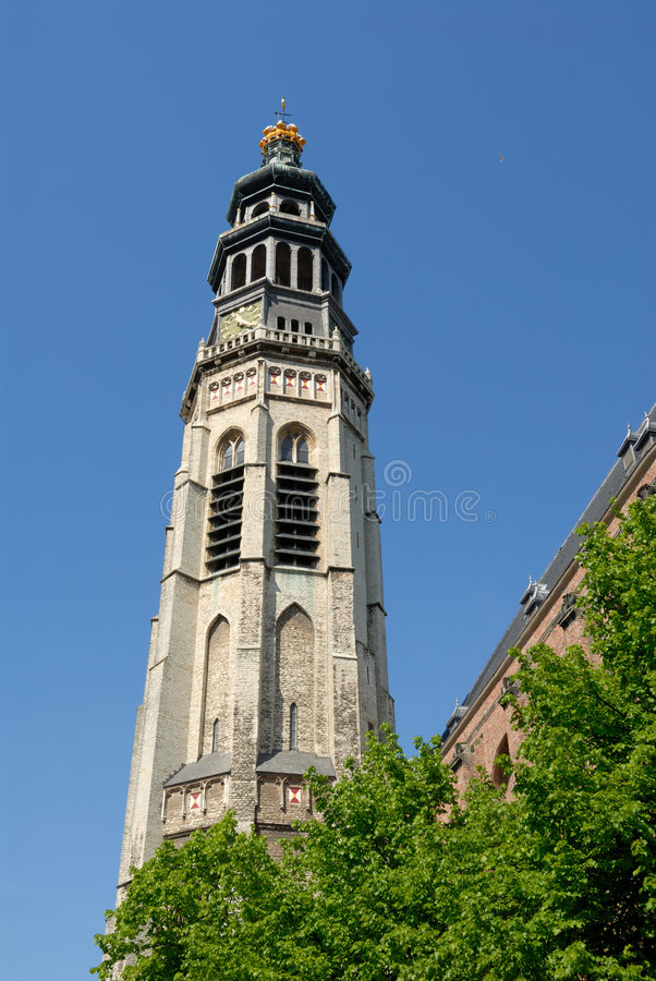 Download Bell Tower Of The Medieval Cathedral Stock Image - Image: 5238545