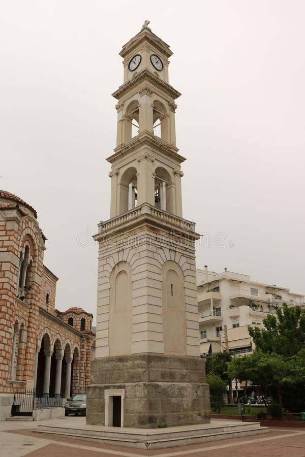 St. Nicholas Cathedral in Volos stock image