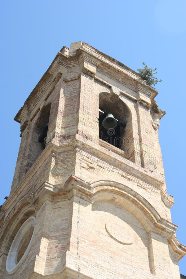 Free Bell Tower Of Neoclassic Church In Ancona, Marche, Italy Stock Photo - 104064520