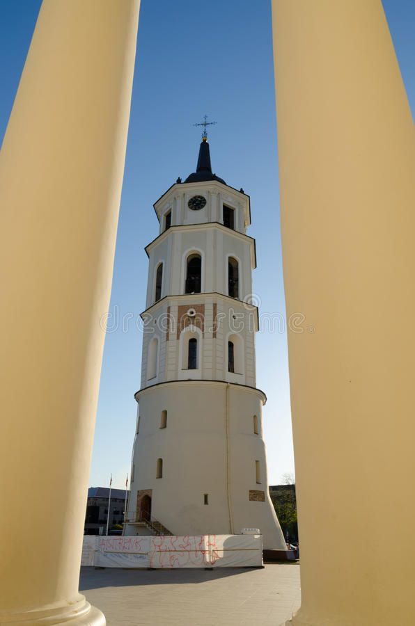 Free Bell Tower On Cathedral Square In Vilnius. Lithuania. Royalty Free Stock Images - 31483989
